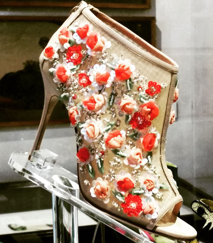 A Manolo Blahnik boots shown at Palazzo Morando, Milano
