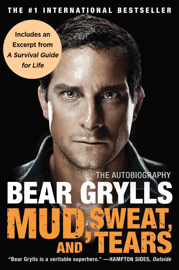 Mud, Sweat, and Tears: The Autobiography  by Bear Grylls http://www.amazon.com/exec/obidos/ASIN/B0068M2HLE/hpb2-20/ASIN/B0068M2HLE Bear Grylls is an amazing man. - Not only a story about Bear but be also encourages all who read it challenge themselves and live life to the fullest. - He does this exceedingly well and it is very easy to relate to him.