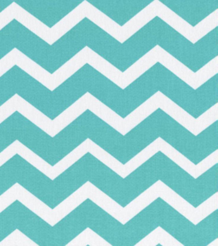 Keepsake Calico Fabric-Turquois  White Chevron, , hi-res