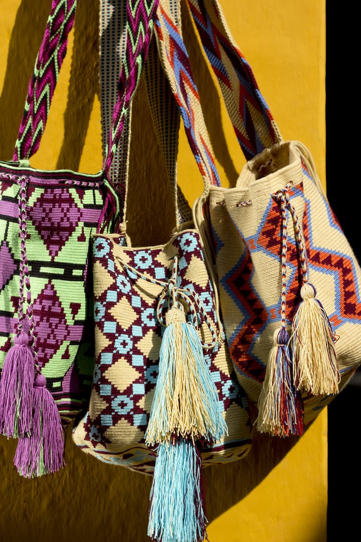 Wayuu Mochila bags: a great shot from our photoshoot in Cartagena, Colombia.