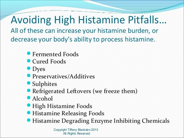 low histamine diet weight loss