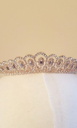 New (Un-Altered) Tiara/Hair Accessory: buy this accessory for a fraction of the salon price on PreOwnedWeddingDresses.com