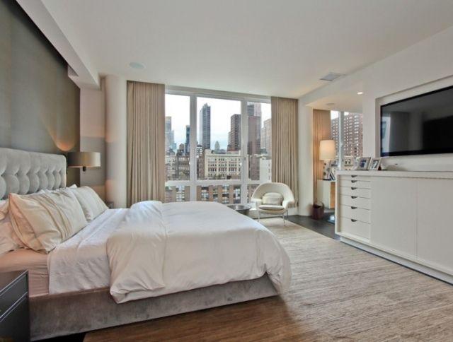 Schlafzimmer Creme Weiße Möbel Polsterbett Samt