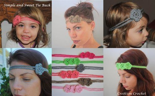 The perfect summer crochet accessory. Simple and Sweet Tie Back/ Headband - Media - Crochet Me