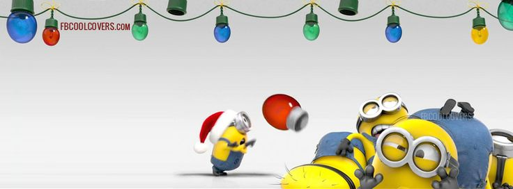 minions christmas facebook covers are available