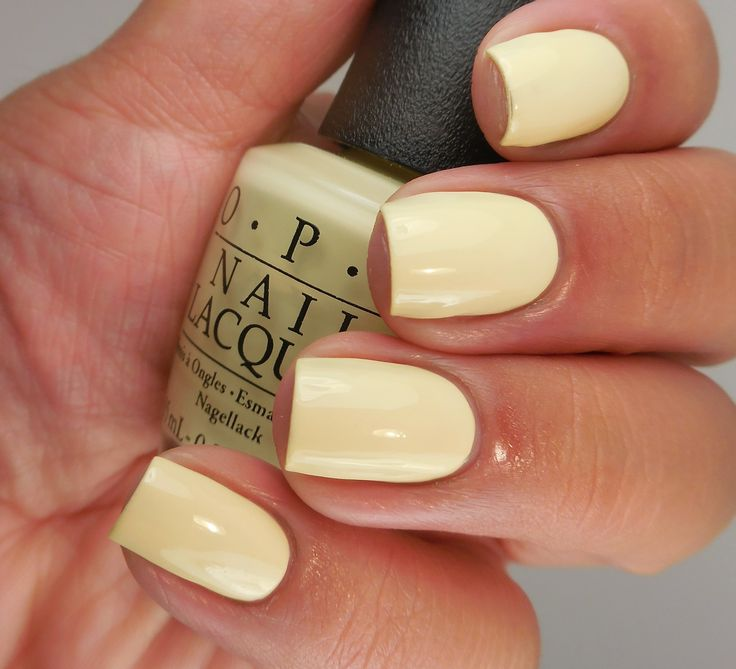 OPI: ❤ One Chic Chick❤ ... a light yellow creme nail polish from the OPI Soft Shades Collection 2016 https://www.facebook.com/shorthaircutstyles/posts/1760248054265634