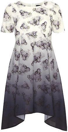 Dorothy Perkins Black ombre tea dress