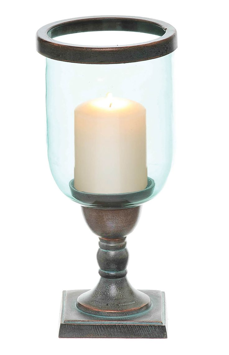 The Square Base Hurricane Small Candleholder by Mindy Brownes. Available at: http://www.standun.com/mindy-brownes-square-base-hurricane-small-candleholder.html