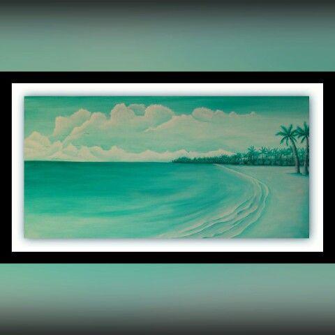 Monochrome seascape.
