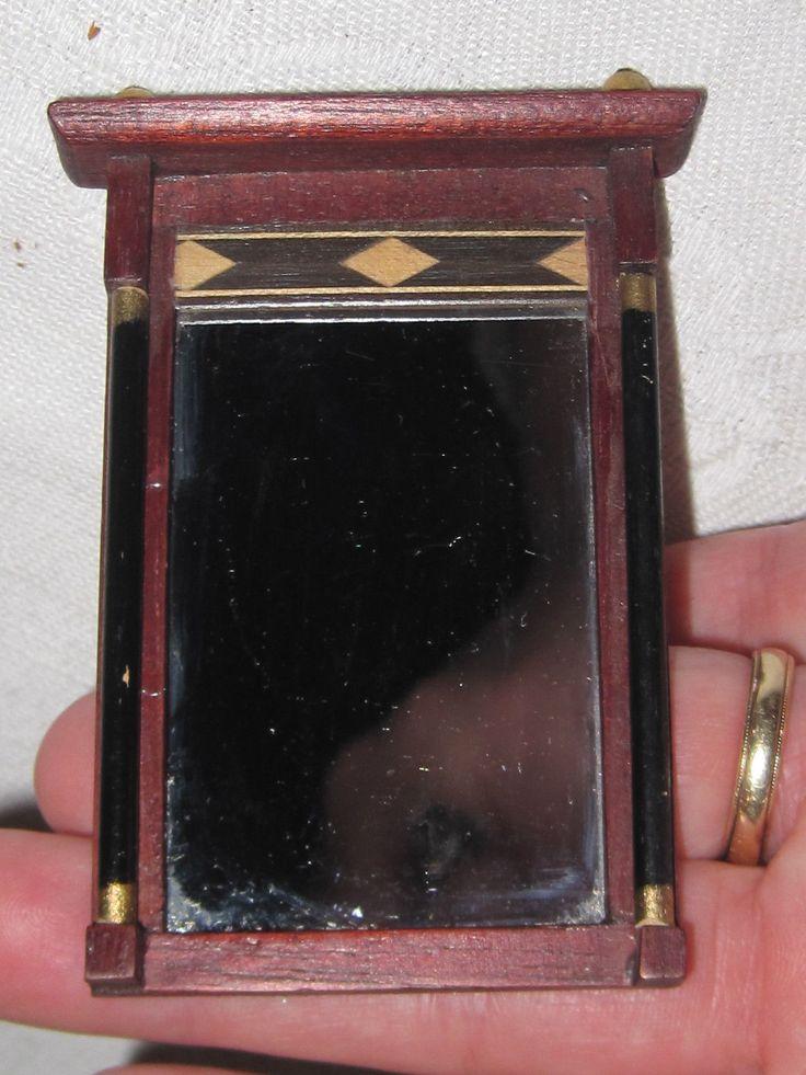 Vintage Lynnfield Blockhouse inlaid mahogany dollhouse mirror | eBay