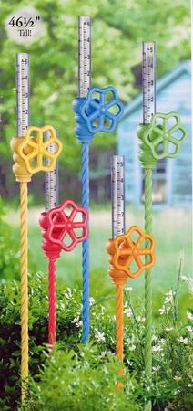 Clever! Grasslands Road Garden Spicket Rain Gauge... we could use these in the Pacific N.W., lot's of rain!