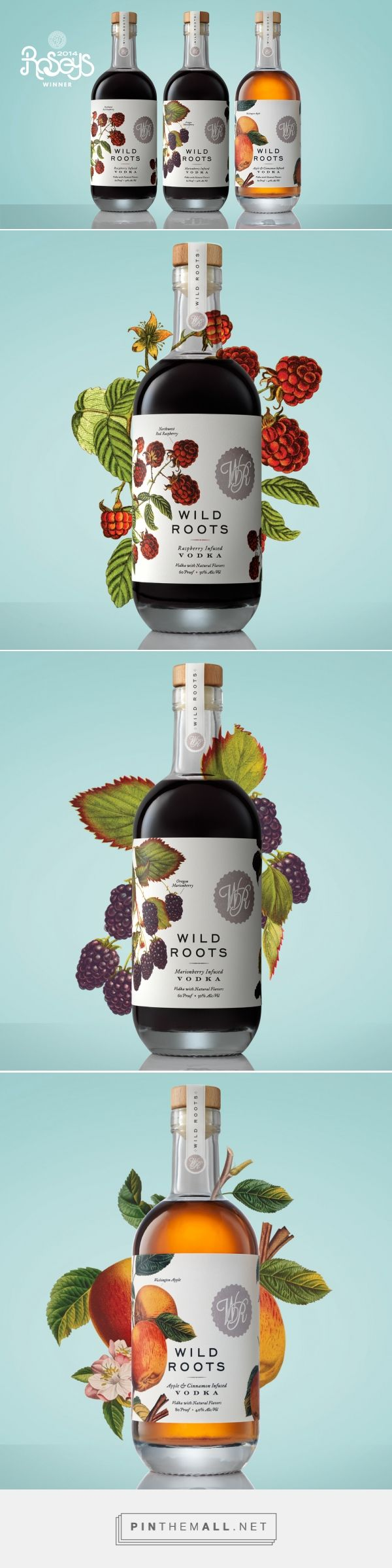 Wild Roots Vodka Packaging by Kristin Casaletto