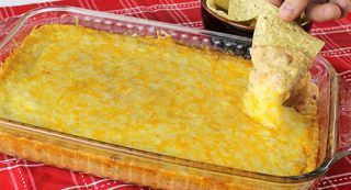 Stop the search! You've found the ultimate ooey, gooey, cheesy bean dip that's all the rage at game-day parties and social gatherings.