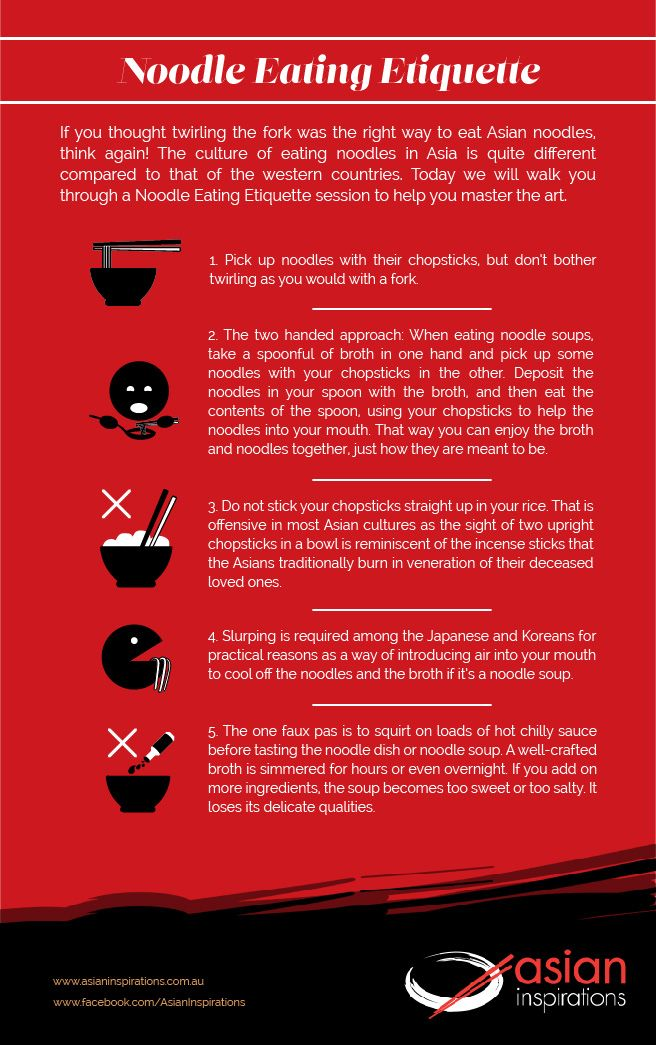 Here are 5 tips to eat your noodles right. Eating #noodles the #Asian way is definitely an art worth mastering. #etiquette #authenticAsian