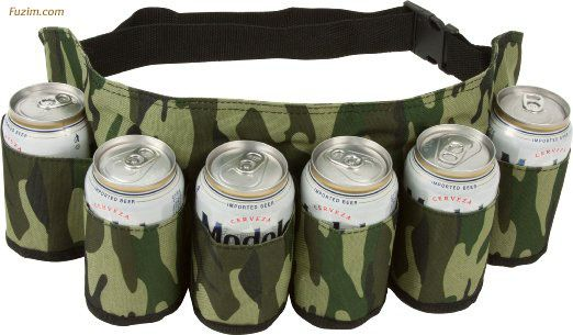 EZ Drinker #Beer & #Soda Can Holster #Belt - Holds up to 6 Beverages! #Cool #Party
