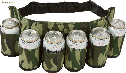 EZ Drinker Beer & Soda Can Holster Belt - Holds up to 6 Beverages!