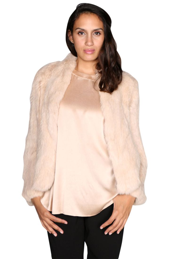 Luxe Deluxe - Lush Fur Jacket In Rose