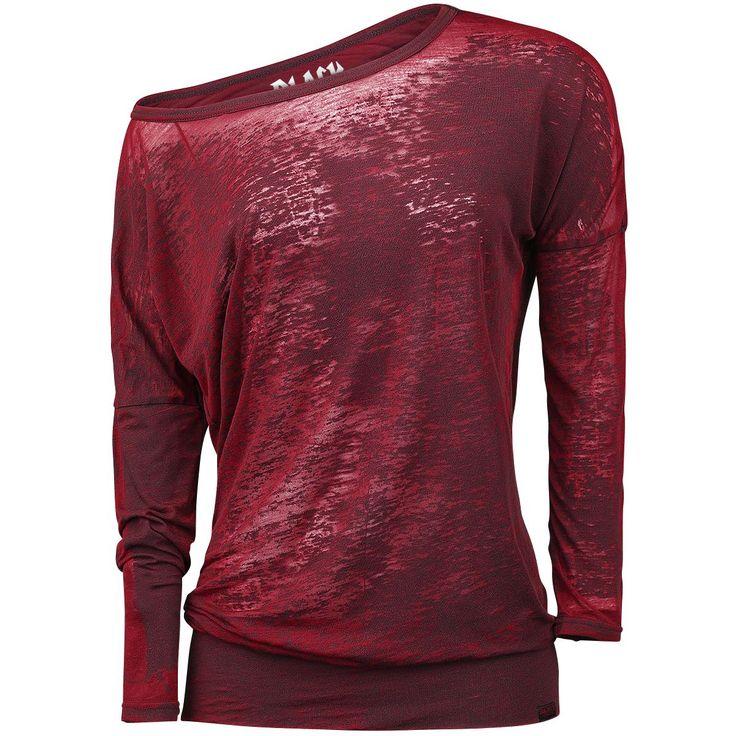 """Black Premium by EMP Shirt met lange mouwen, Vrouw """"Burnout Ladies Tee"""" rood • Large"""