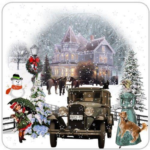 victorian christmas scenes - photo #9