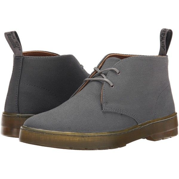 Dr. Martens Daytona Women's Shoes, Gray ($56) ❤ liked on Polyvore featuring shoes, boots, grey, weave shoes, grey desert boots, gray boots, grey shoes and stitch shoes
