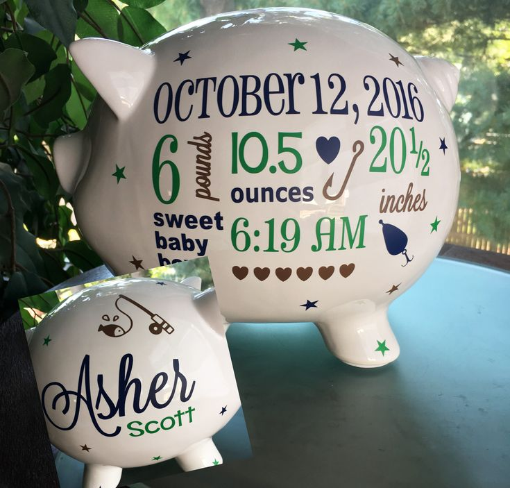 Best 25 personalized piggy bank ideas on pinterest baby piggy fishing baby personalized piggy bank custom baby boy piggy bank nursery piggy bank negle Images