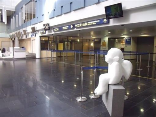 Angel in Vilnius International Airport, Lithuania