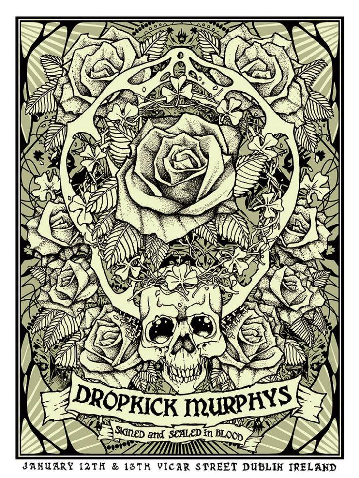 ☮ American Hippie Rock Punk Music Poster ~ Dropkick Murphys