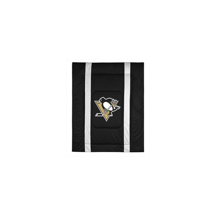Pittsburgh Penguins Full/Queen Comforter, Black