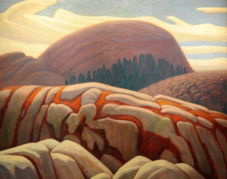 Lawren Harris, (Canada 1885-1970)Lake Superior Hill XV (c. 1927)oil on canvas