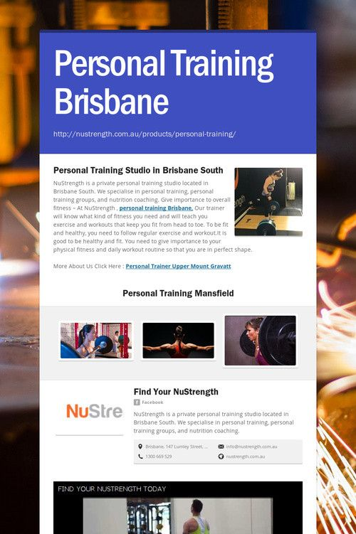 Personal Training Brisbane