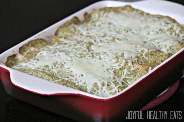 Chicken Enchiladas con Creamy Tomatillo Sauce | Recipe