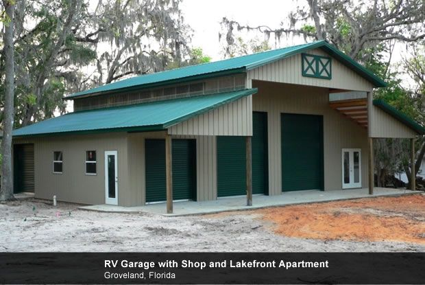 Metal shop shop pinterest for Rv storage buildings with living quarters