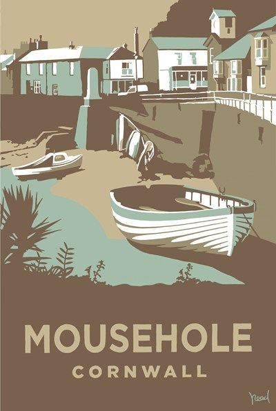 Mousehole Print at Whistlefish Galleries - handpicked contemporary & traditional art that is high quality & affordable. Available online & in store