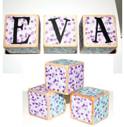 16 best personalized baby gifts images on pinterest personalized personalized baby name blocks flower theme by nurserytimeblocks negle Image collections