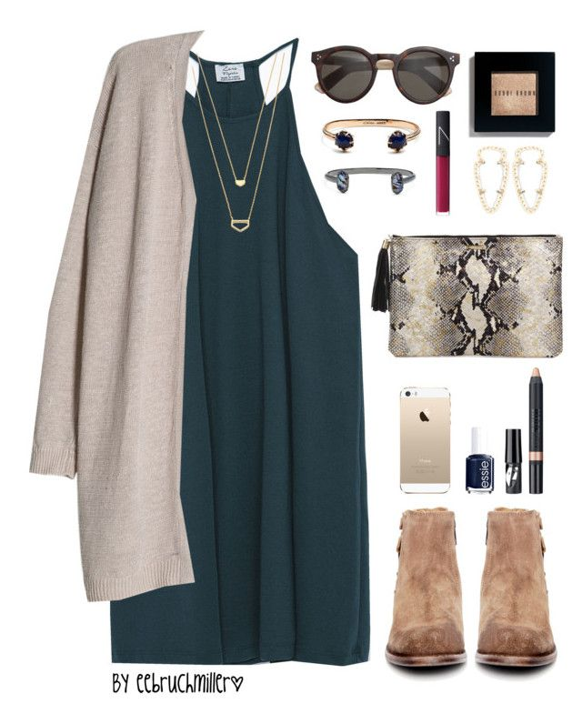 """[ Fall Preview ]"" by eebruchmiller ❤ liked on Polyvore featuring Zara, H by Hudson, MANGO, J.Crew, Bobbi Brown Cosmetics, Gorjana, Kendra Scott, NARS Cosmetics, GiGi New York and Essie"