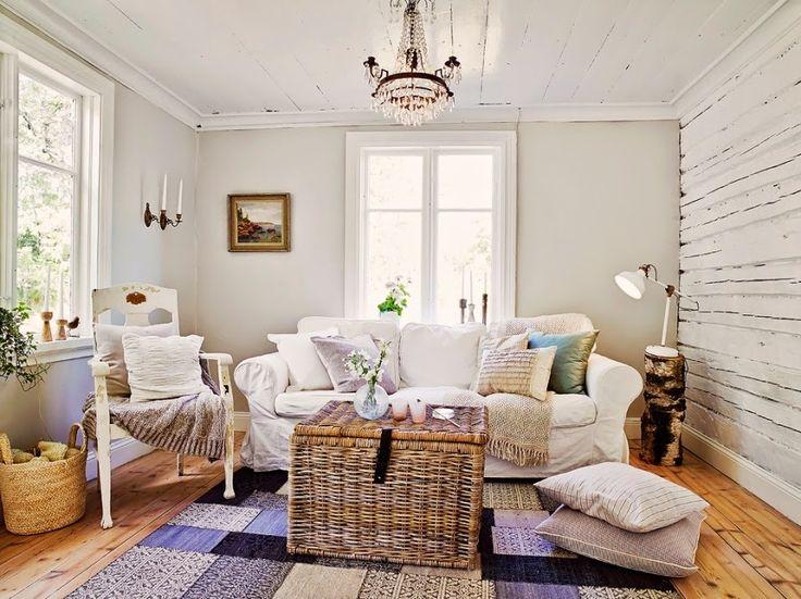 dom, wystrój wnętrz, wnętrza, home decor, styl skandynawski, białe wnętrza, shabby chic, salon, pokój dzienny, kont wypoczynkowy
