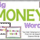 These posters are a must-have for any science classroom!  Big Money Words includes 28 word cards.  There are 2 sets to choose from: crayon box colo...
