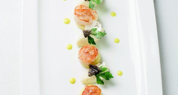 WALKING DINNER: Sint-jakobsvruchten met curry-appelsausje en bloemkool | Dolce world