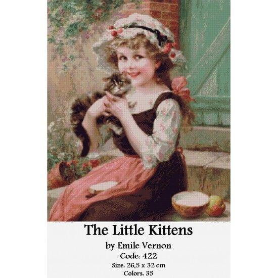 Gobelin Kit The Little Kittens by Emile Vernon http://gobelins-tapestry.com/portraits/869-the-little-kittens-by-emile-vernon.html