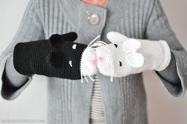 Rękawiczki KOTY dla nastolatków i dorosłych - WarmYourself - Rękawiczki