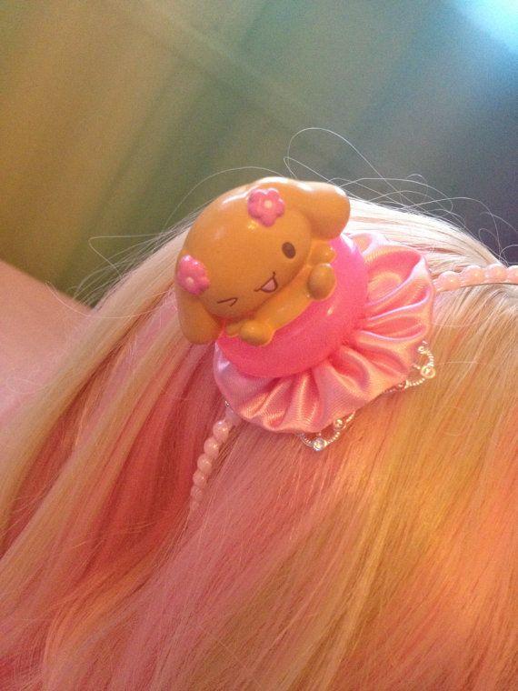 Cinnamoroll Friend Mocha Ruffle Pink And Silver Sweet by zefora, $15.00