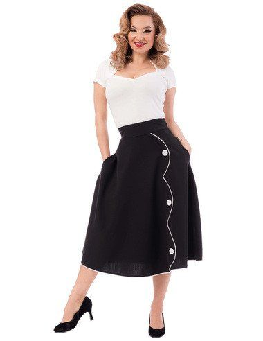 Steady Clothing Parade Skirt in Black