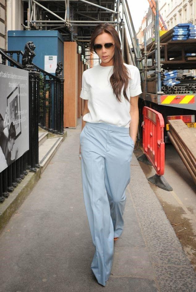 Victoria Beckham in Chloe high-waist trousers