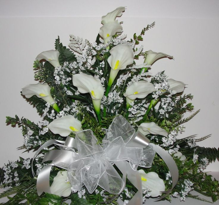 Details About White Calla Lily Bridal Weddings Altar Silk