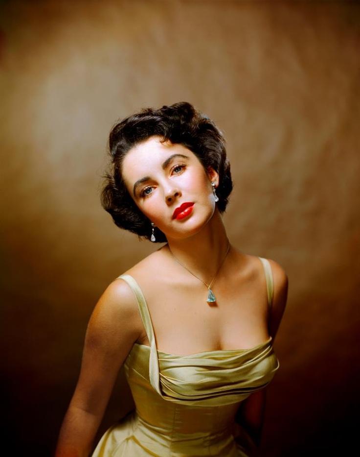 Philippe Halsman's iconic image of 16 year old Elizabeth Taylor...