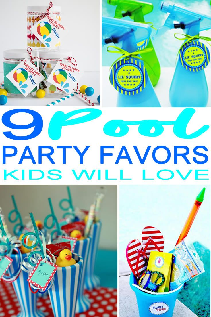 9 completely awesome pool party favor ideas kids teens - Swimming pool party ideas for kids ...