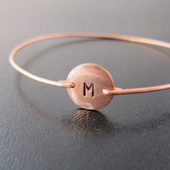 Personalized Copper Bracelet, Custom, Copper Jewelry, Hand Stamped Copper Bracelet, Monogram Initial Bracelet Bangle, Copper Bangle Bracelet...