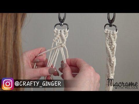 DIY Macrame Tutorial: Macra-Mini Key Chain for Beginners #1 of 4 – YouTube – Emily Anne