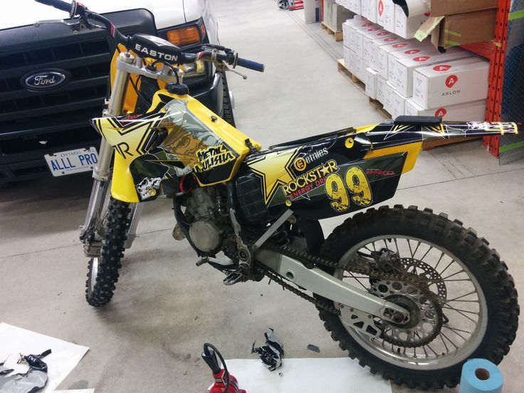 Dirt Bike Wrap/Rockstar Dirt Bike Wrap. Design, Print & Install by Side Effects Graphics.