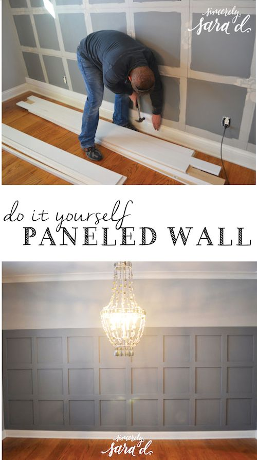 Great tutorial for square paneled wall!